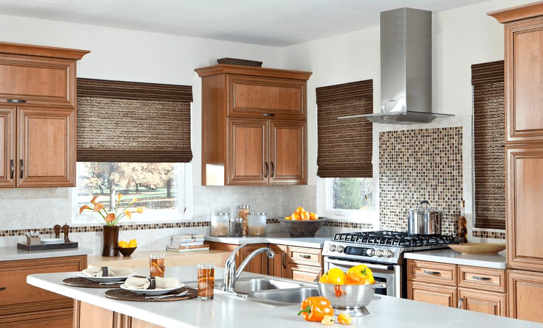 Coronado Natural Woven Shades - Kitchen