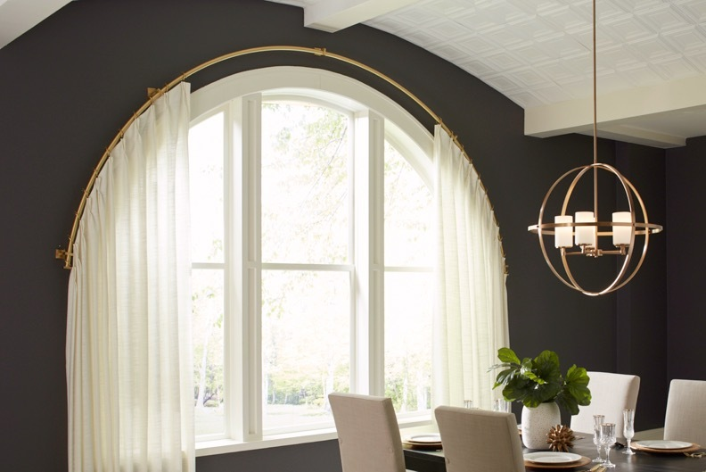 Select Metal Curved Pole for Arched Window